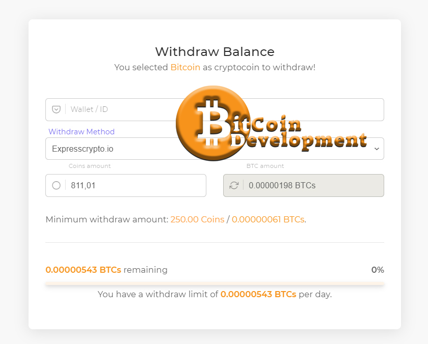 Faucet Crypto withdraw